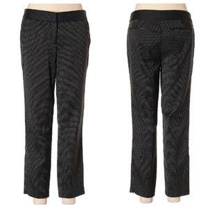 🌺 CYNTHIA ROWLEY Polka Dot Jacquard Ankle Pants